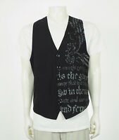 Roar Narrow Gates Embroidered Black Button Front Vest Mens Sz XL