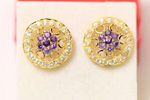 22ct/916 sparkling attractive indian gold pair of ear studs *Boxed*