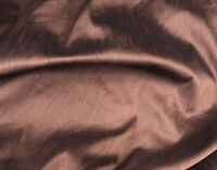 "Brown Polyester Dupioni Fabric 60"" Width Sold By The Yard"