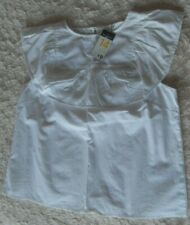 PRIMARK SMART FRILLED WHITE  SLEEVELESS TOP  SIZE 14 BNWT  IN ORGANIC COTTON