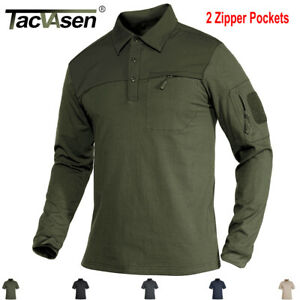Long/Short Sleeve Men's Tactical Polo Shirt Team Work Army T-shirt Pullover Tops