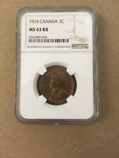Canada Canadian Large Cent Penny George V NGC MS 63 1914 Rare