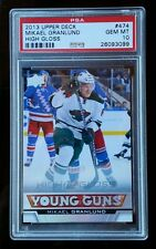 "PSA 10 GEM MINT MIKAEL GRANLUND Rc "" HIGH GLOSS "" 2013-14 UD YOUNG GUNS Rookie"