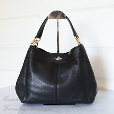 New Coach F23537 Small Lexy Shoulder Bag In Pebble Leather Black edfbd09ff9abc