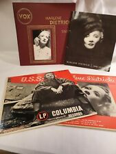 Marlene Dietrich Records And Book Lot