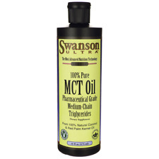 Swanson 100% Pure Mct Oil Pharmaceutical Grade 16 fl oz (1 pt) (473 ml) Liquid