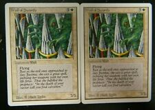 Vintage MTG Unlimited (2) Wall Of Swords White Uncommon Cards LP - Excellent Con