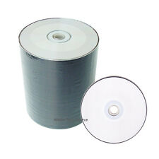 100 White Inkjet HUB Printable CD-R CDR Recordable 52X Blank Disc Media