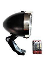 Luce Fanale Faro anteriore LED con Batterie per Bicicletta Fixed Trekking Retrò