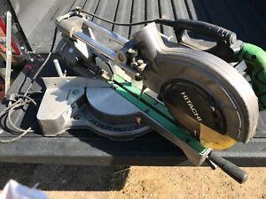 Hitachi Drop saw mitre saw used 240v
