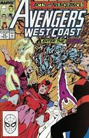 Avengers West Coast Comic 53 Copper Age First Print 1989 Byrne Williams Marvel