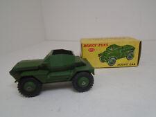 Vintage Dinky Toys #673-G ARMY SCOUT CAR Meccano Ltd. NEAR MINT IN ORIGINAL BOX