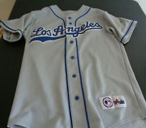LOS ANGELES DODGERS Baseball MAJESTIC Sewn Blank MEDIUM Jersey Gray MLB FreeShip