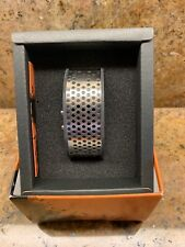 TOKYOFLASH Corrosion Watch. New In Box. Black Band With Stainless Steel Face