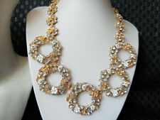 NWOT NEW J.CREW Crystal Floral Circle Statement Necklace