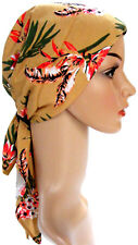 HEAD SCARF LIGHTLY PADDED.  HEADWEAR FOR HAIR LOSS, ALOPECIA. Gold-red-green