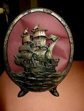 Antique Oval Shape Ship Pre 30's Radio Speaker - Super Rare