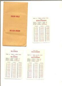 1967-68 APBA Chicago Bulls basketball team set (10), missing one tab