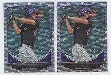 2013 Bowman Draft Silver Ice Lot (2) David Dahl #TP7 Top Prospect Rockies
