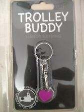 SHOPPING TROLLEY BUDDY HANDY KEY RING TROLLEY TOKEN EASY TO CLEAN. NO £1 COIN