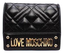 Portafoglio Love Moschino Mini matelasse Nero Jc5601 Collezione P/e 2020
