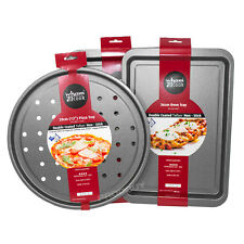 3 Piece Wham Non-stick Steel Baking Trays Set Assorted Pizza Oven Cooking Dishes