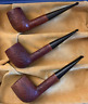 3 Smoked Dunhill LBS Tanshell pipes