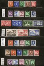 BAHRAIN 1952-57 GREAT BRITAIN OVPTS SG80/112 MNH