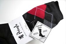 3 x Mens PRINGLE Black Diamond Cotton Rich Socks UK foot 7-11 Eu 40-46 New