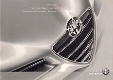 Alfa Romeo Spider Specification 2008-10 UK Market Brochure 2.2 3.2 JTS 2.4 JTD