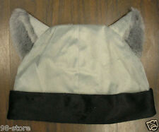 Lot of 2pcs GRAY and BLACK CAT ANIME KITTY GOTH RAVE COSPLAY CAP HAT