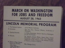 """Martin Luther King """"I Have A Dream"""" Civil Rights march Program 8/28/1963 reprint"""