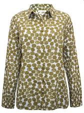 NEW Ex SEASALT Olive Spot Print Crinkle LARISSA Shirt - Sizes 12 - 28 RRP £39.95