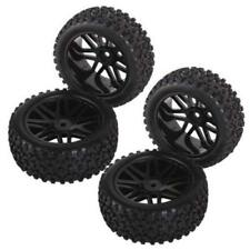 4pcs Wheel Rim & Rubber Tyre Tires Front & Rear for Scale Off-Road RC Car
