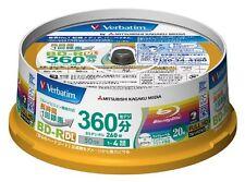 20 Verbatim Blank Blu ray Discs Bd-R Dl 50Gb 2 Dual Layer bluray Vbr260Yp20Sv1