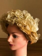 1950's Harbig Hat , Melbourne , trimmed with silk flowers
