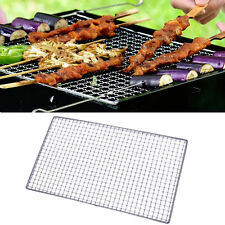 2 Sizes BBQ Grill Stainless Steel Net Wire Mesh Camping Barbecue Outdoor Picnic