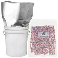 10-5 GALLON 20x30 Mylar Bags+10-2000 cc Oxygen Absorbers Long Term Food Storage