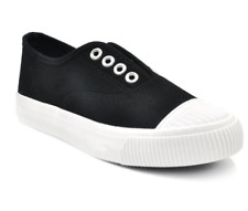 Tanggo A299 Flat Casual Shoes Sneakers Slip-On Women's FashionRubberShoes(black)