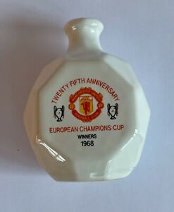 Manchester United  25th Anniversary European Cup Whisky Miniature  by Buchan.