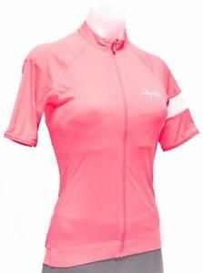 Rapha Core Short Sleeve Cycling Jersey Women SMALL MEDIUM Hi Vis Pink Road Bike