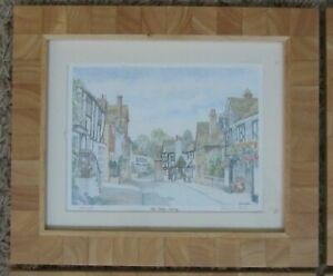 Old Oxstead, Surrey, LIMITED EDITION Print - Signed by PATRICIA HALL, 31 x 26 cm