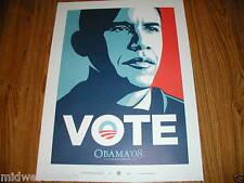 Shepard Fairey Art Print President Barack Obama Small VOTE Poster Obey Giant