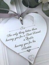 Personalised Best Friends Auntie Gift Keepsake Heart Child P265