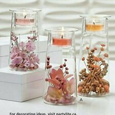 Partylite Symmetry Trio Glass Tealight Candle Holders in Box P91205