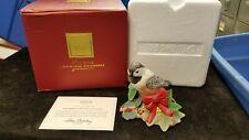 2009 Lenox Christmas Chickadee Figurine w/ Box & Coa