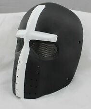 COOL Cross Fiberglass Resin Mesh Eye Airsoft Paintball Full Face Protection Mask