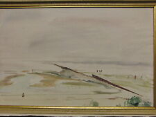 Aquarell sign. Alwin Blaue dat. 1947 Wattenmeer List auf Sylt Expressionismus