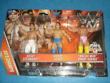 WW VENTOLA CENTRALE K-MART/TESCO esclusivo anni'80 WRESTLING Champs Triple Set Macho Man