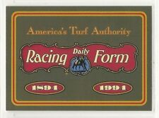 1993 Daily Racing Form Horse Star Cards Promo - #4 - 100 Years of Racing